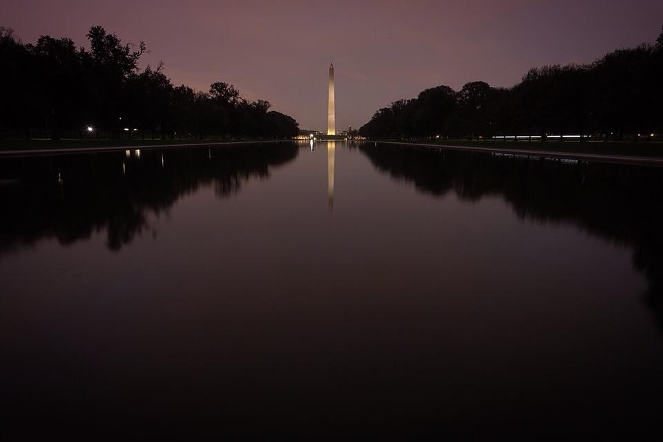 Washington Monument at Night Photo