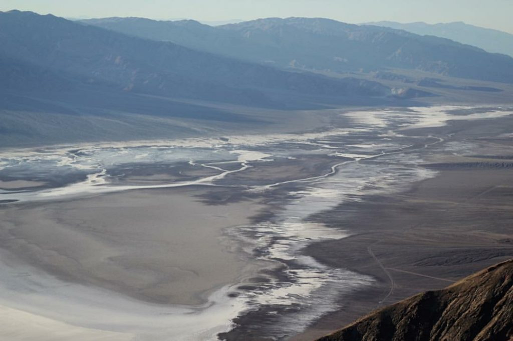 views of badwater basin in death valley