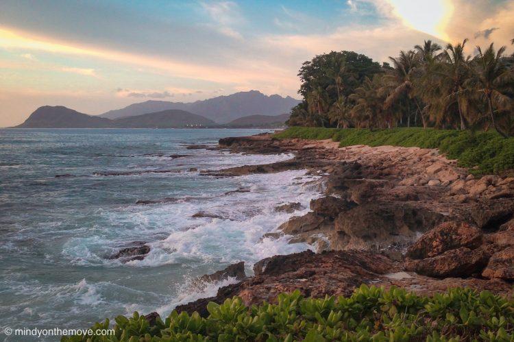 Luau place called Paradise Cove at sun set in Oahu Hawaii